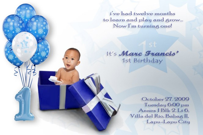 Baby 1st Birthday Invitation Card – Baby 1st Birthday Invites