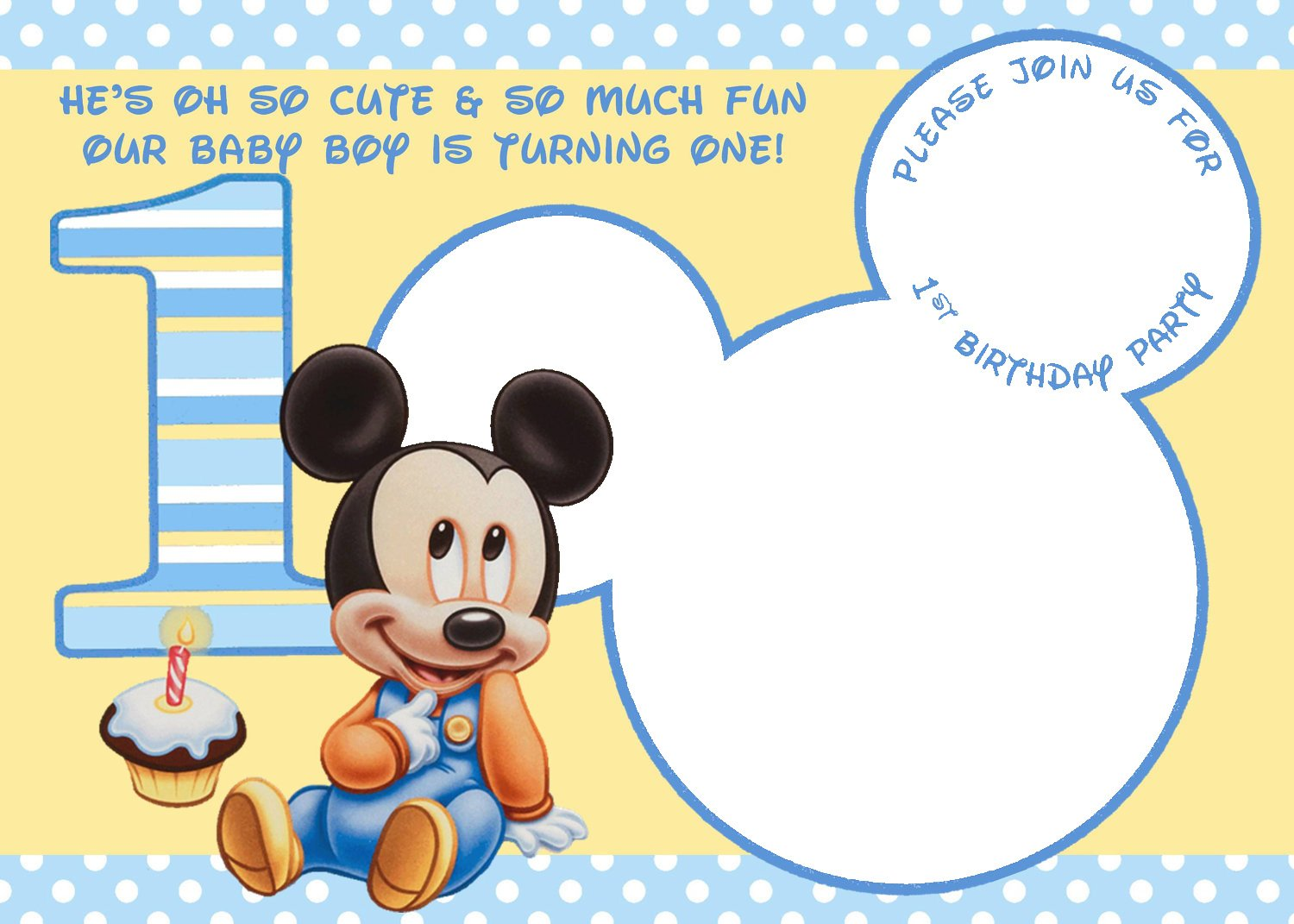 mickey mouse birthday invitations online