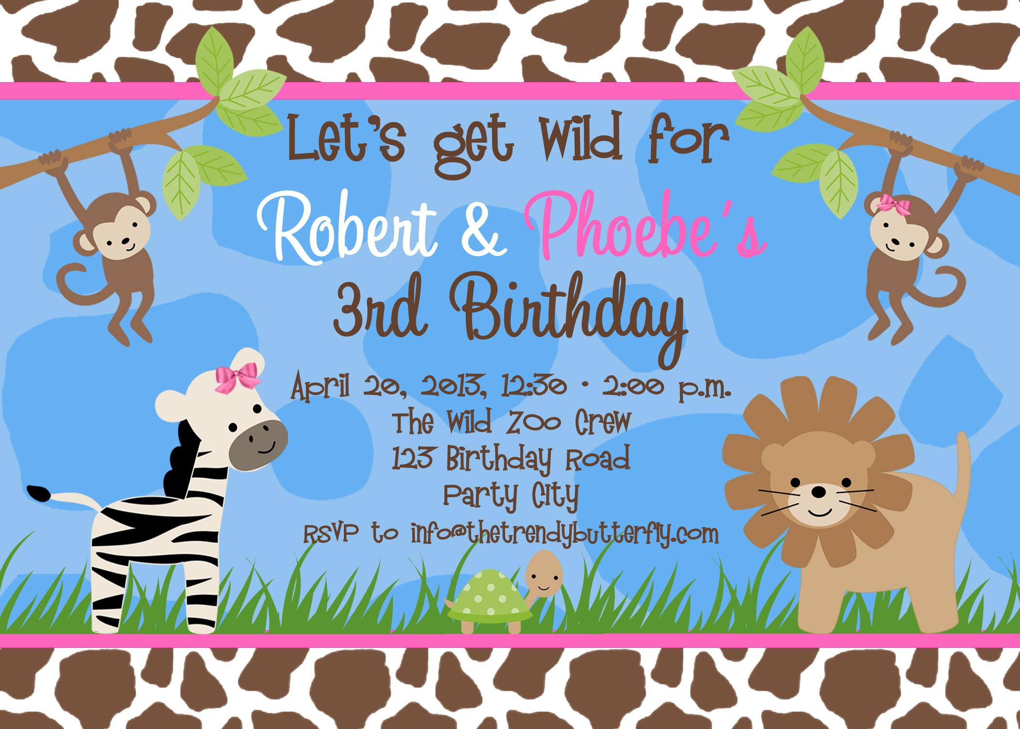 Free Birthday Party Invitation Templates Free Invitation Templates