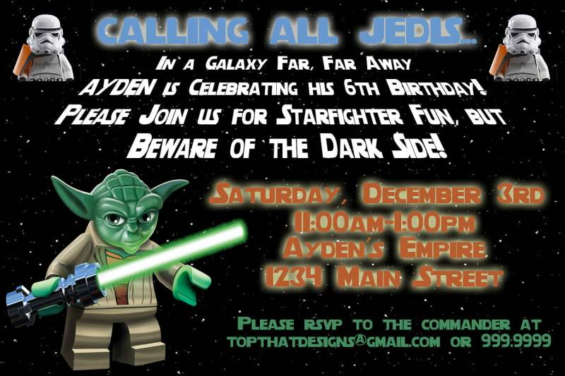 Free Printable Lego Star Wars Birthday Invitations Invitationswedd