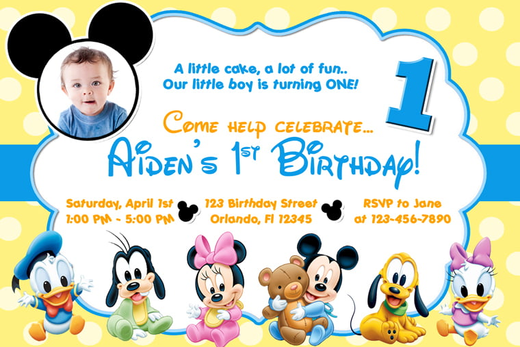 create your own mickey mouse invitations