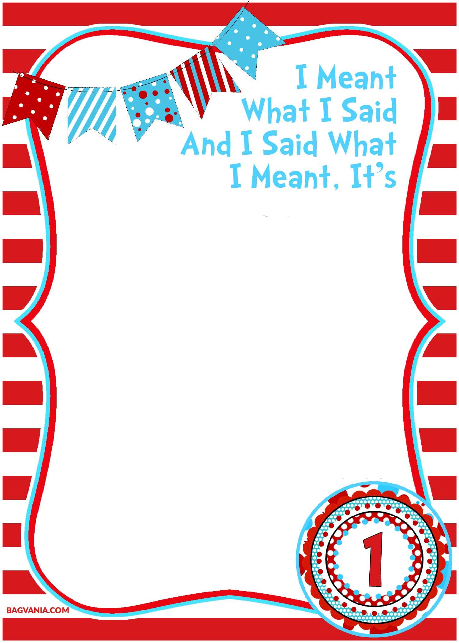 Seuss Dr Border Clip Art