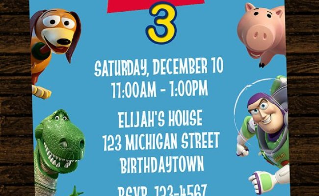 Toy Story Birthday Party Invitations Drevio