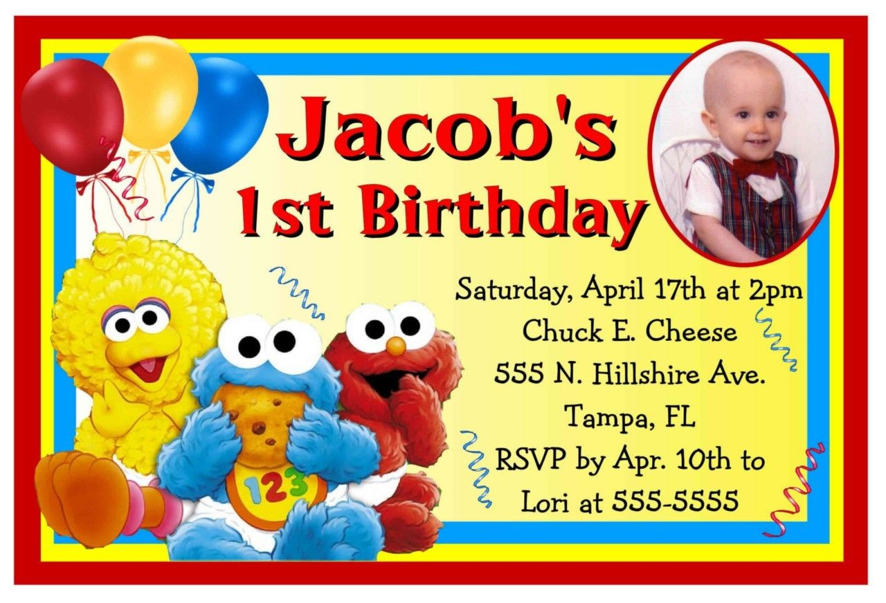 Free Printable Sesame Street Birthday Invitations FREE