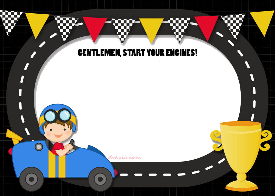 free printable race car birthday party