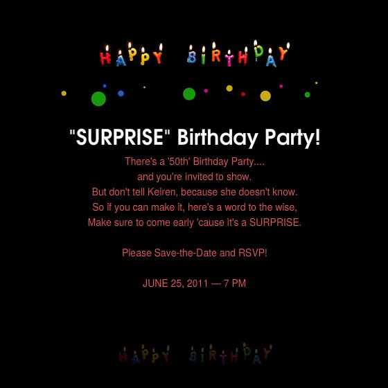 50th Birthday Surprise Party Invitations FREE Invitation