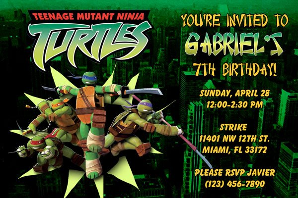 FREE Printable Teenage Mutant Ninja Turtles Birthday