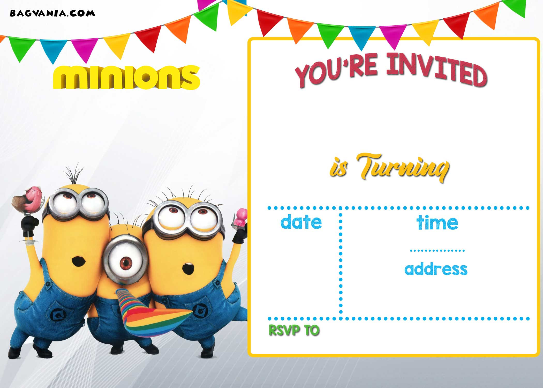 free printable minion birthday party