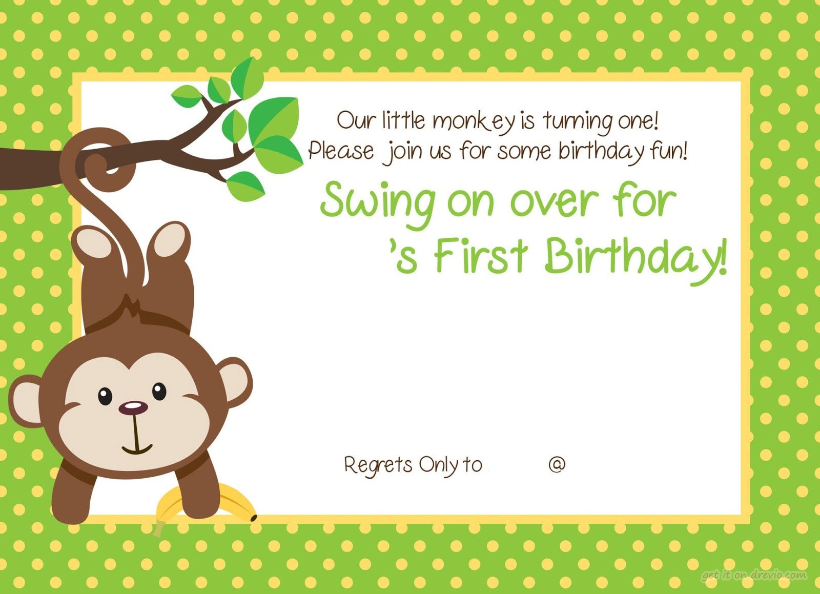 first birthday party invitation templates free