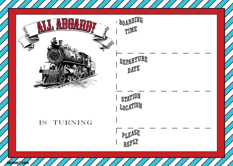 free printable vintage train ticket