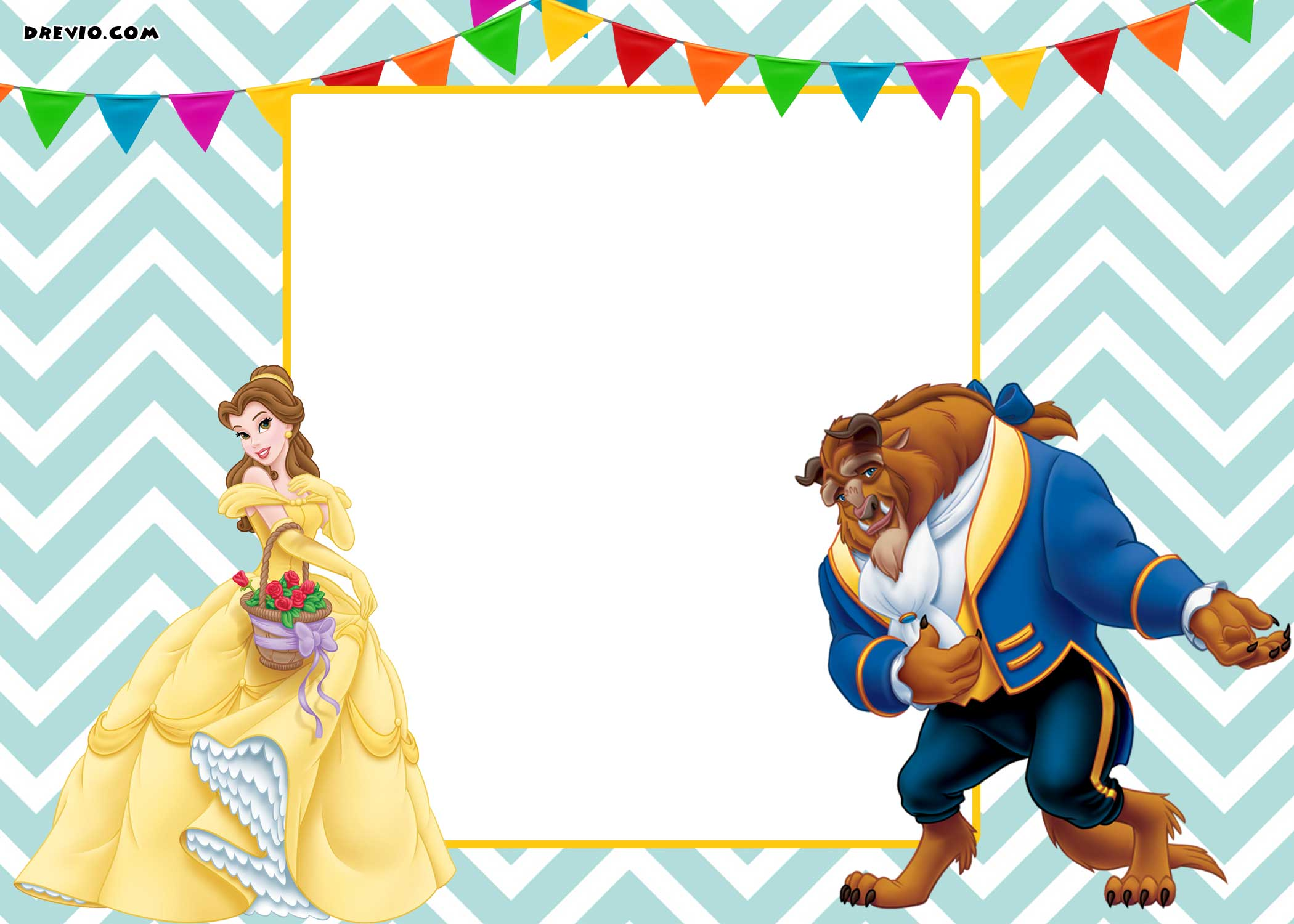 Free Printable Beauty And The Beast Royal Invitation