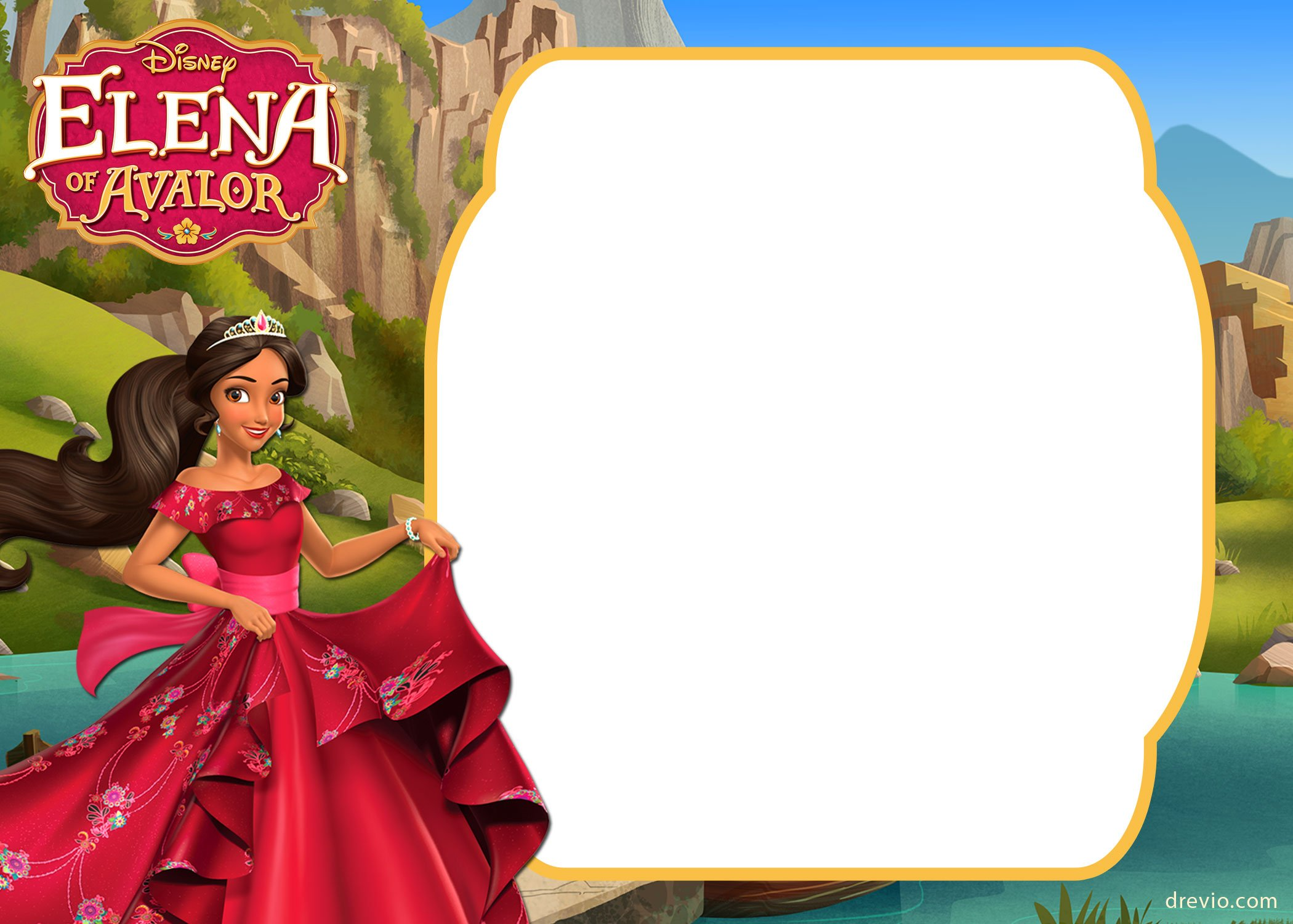 FREE Printable Elena Of Avalor Invitation Template FREE