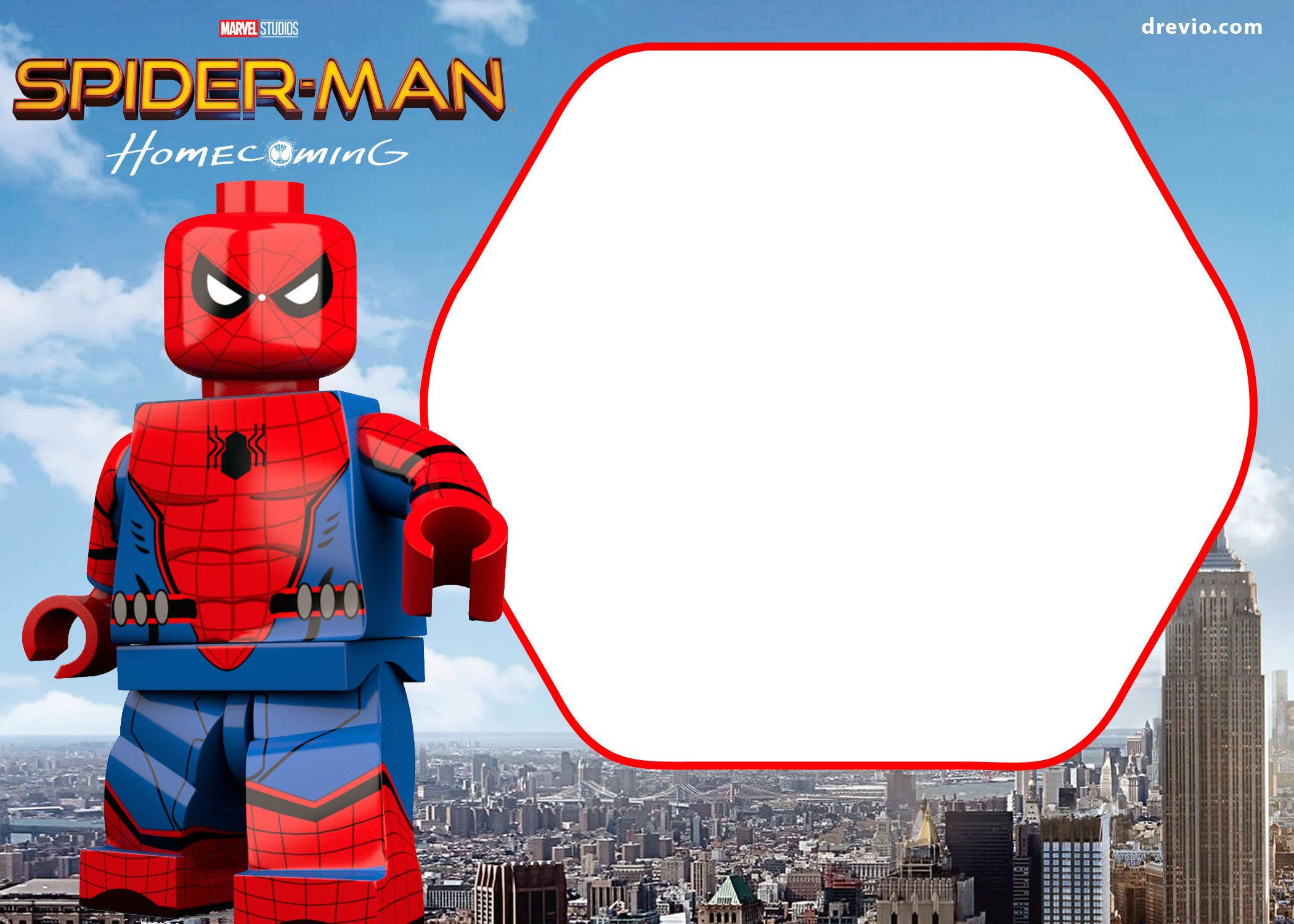 FREE Spiderman Homecoming Invitation Template FREE