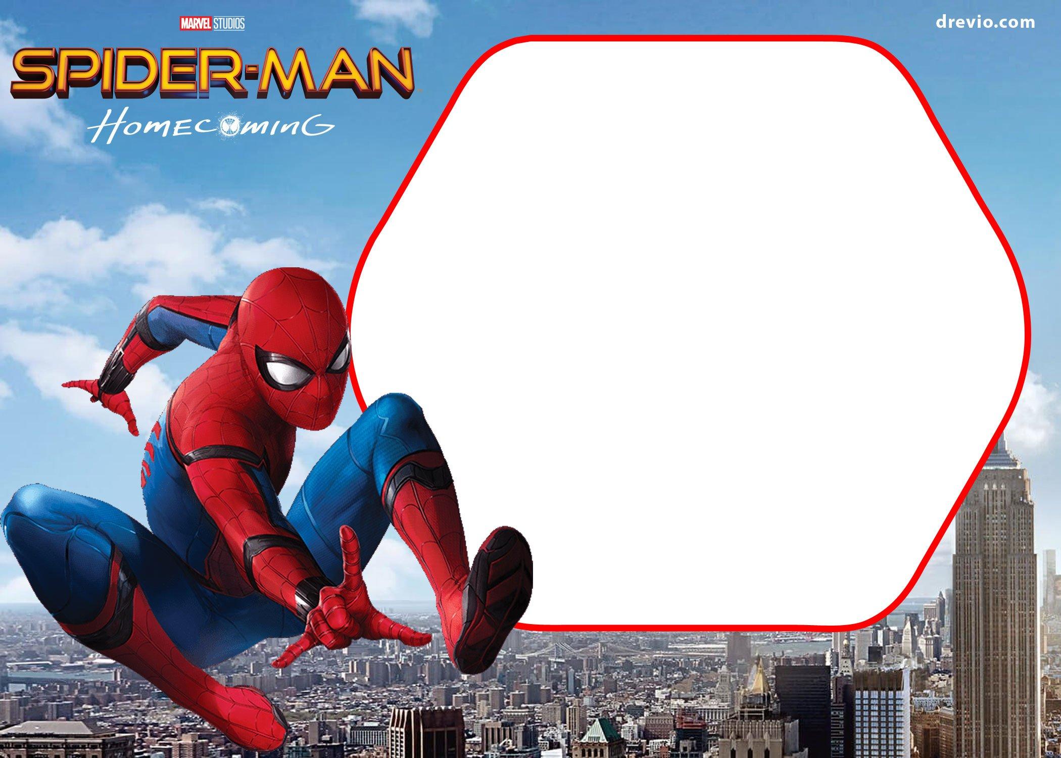 free spiderman homecoming invitation