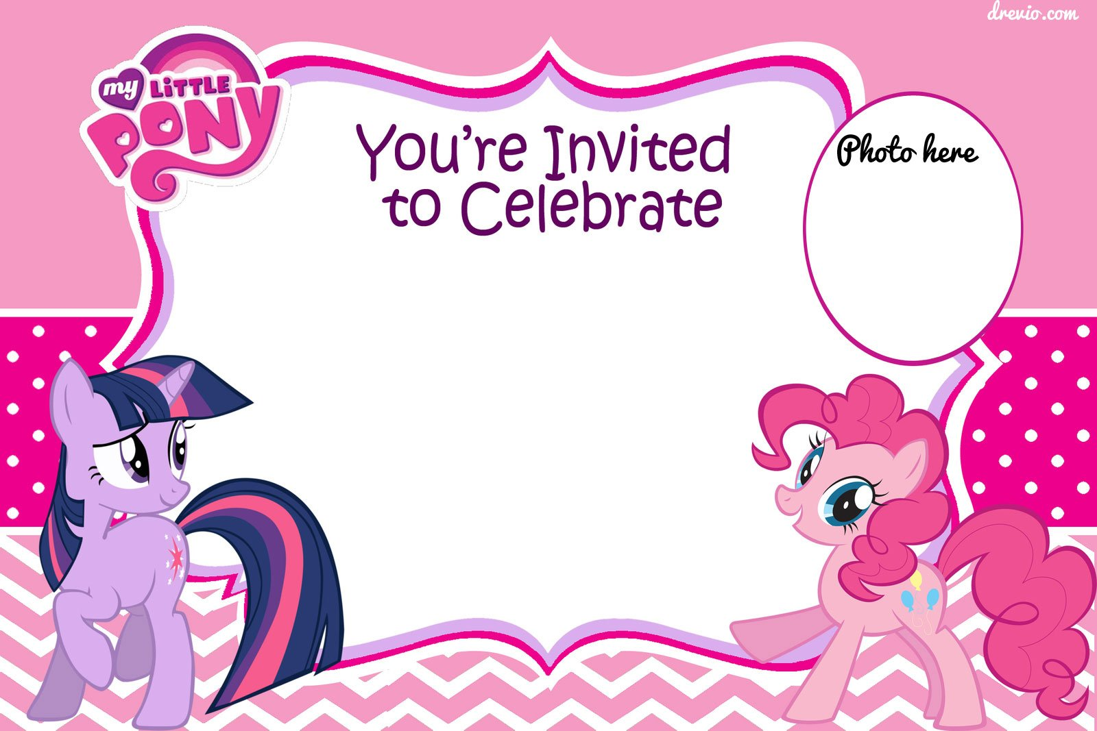 Free Printable My Little Pony Birthday Invitation Template