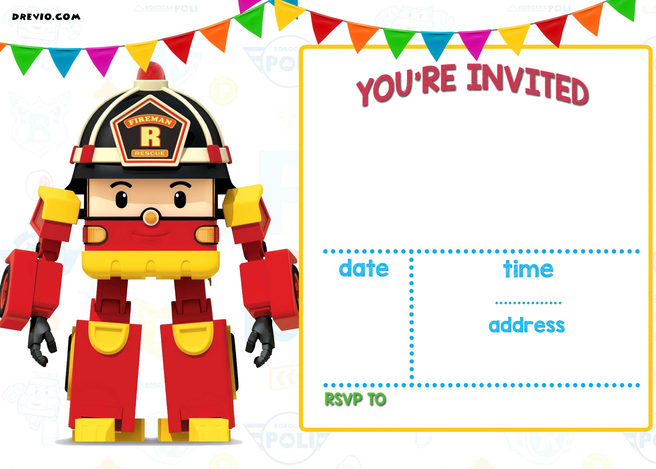 cars birthday invitation templates