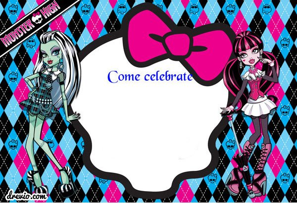 FREE Printable Monster High Birthday Invitations FREE