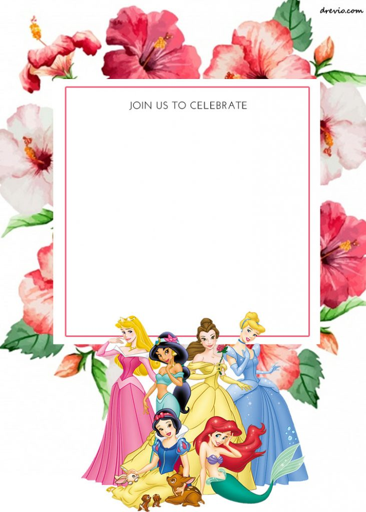 princess themed invitation template