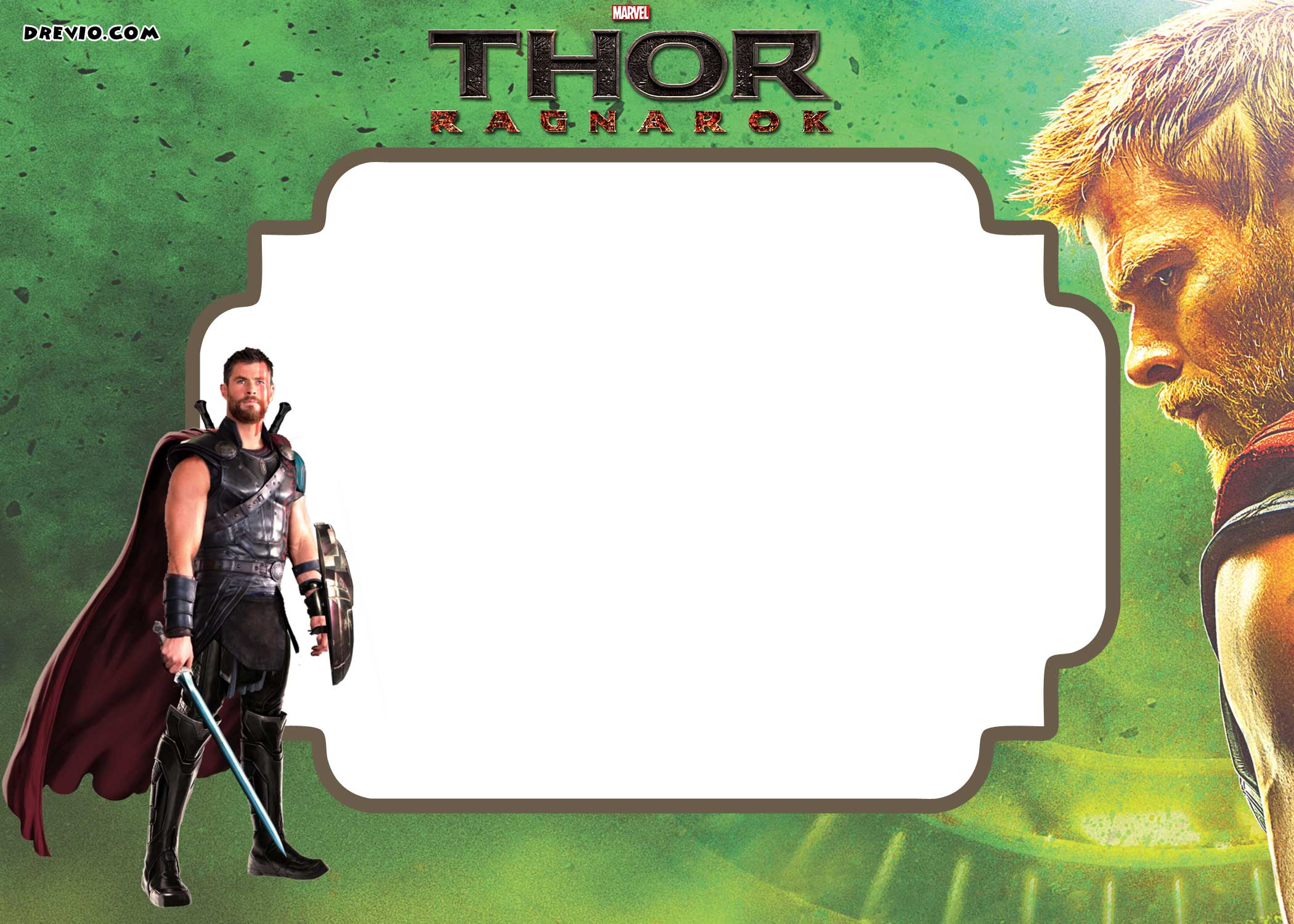 FREE Printable Thor Ragnarok Invitation Template FREE