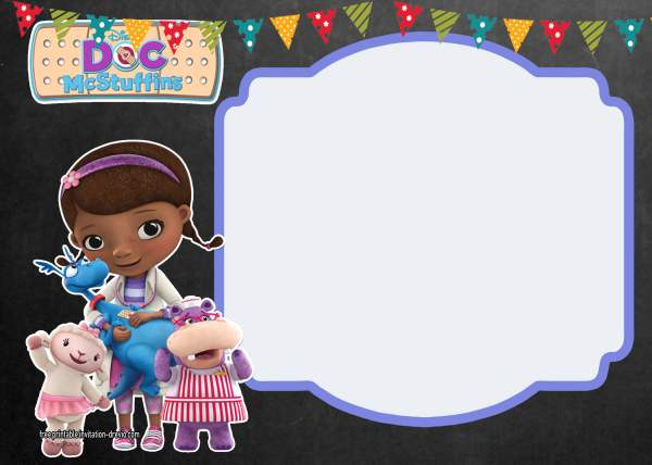Doc McStuffins Birthday Invitations Template