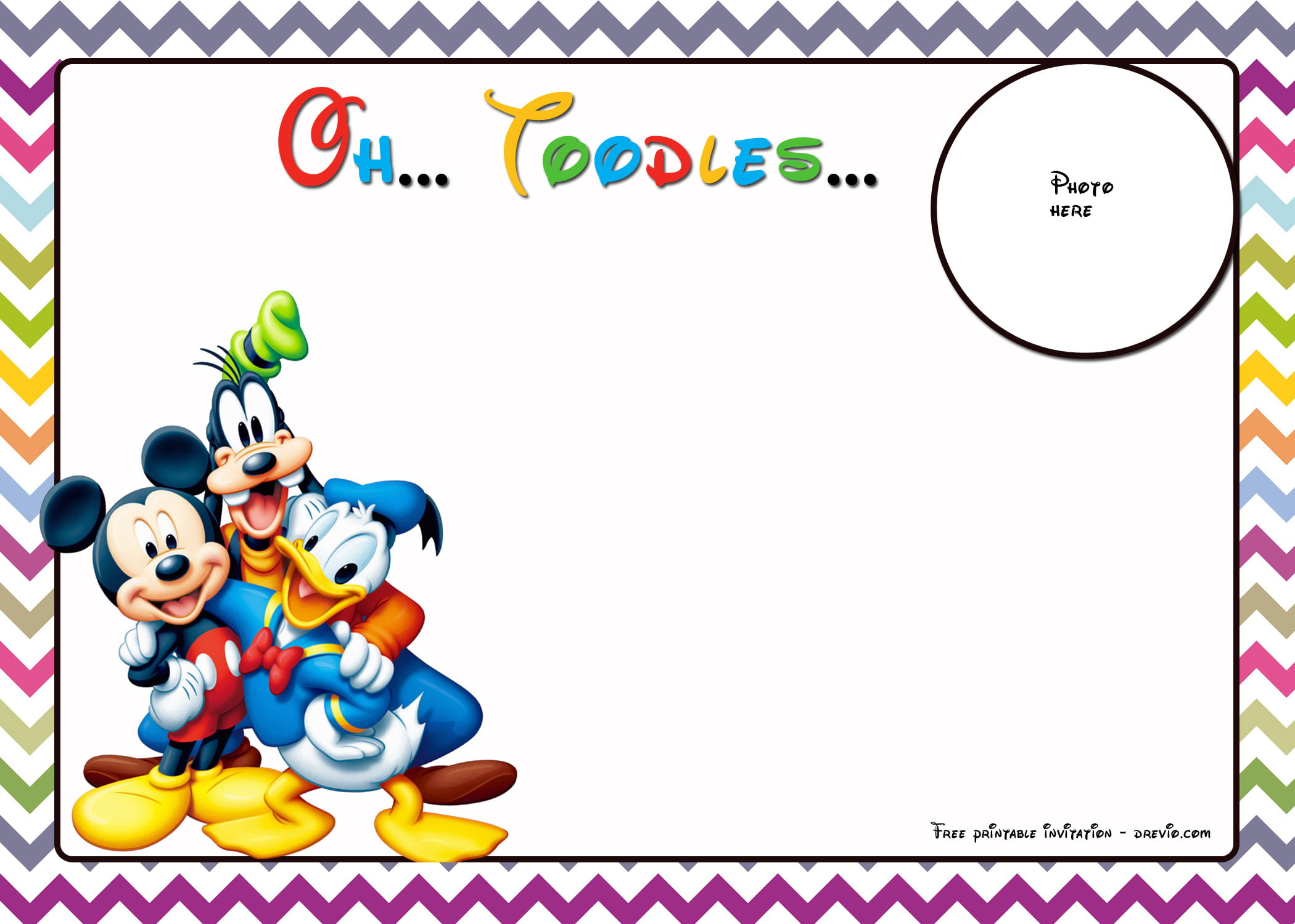 Free Mickey Mouse Birthday Invitations Template