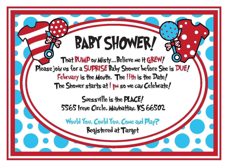Personal Shower Invitations