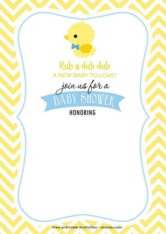 free printable rubber duck