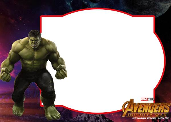 Infinity War Avengers Birthday Invitations Template