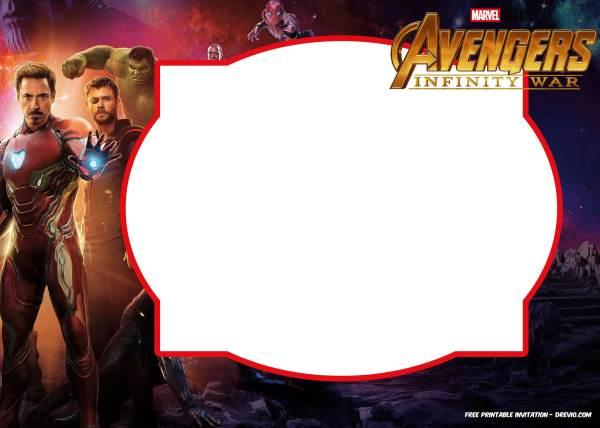 Infinity War Avengers Birthday Invitations Template