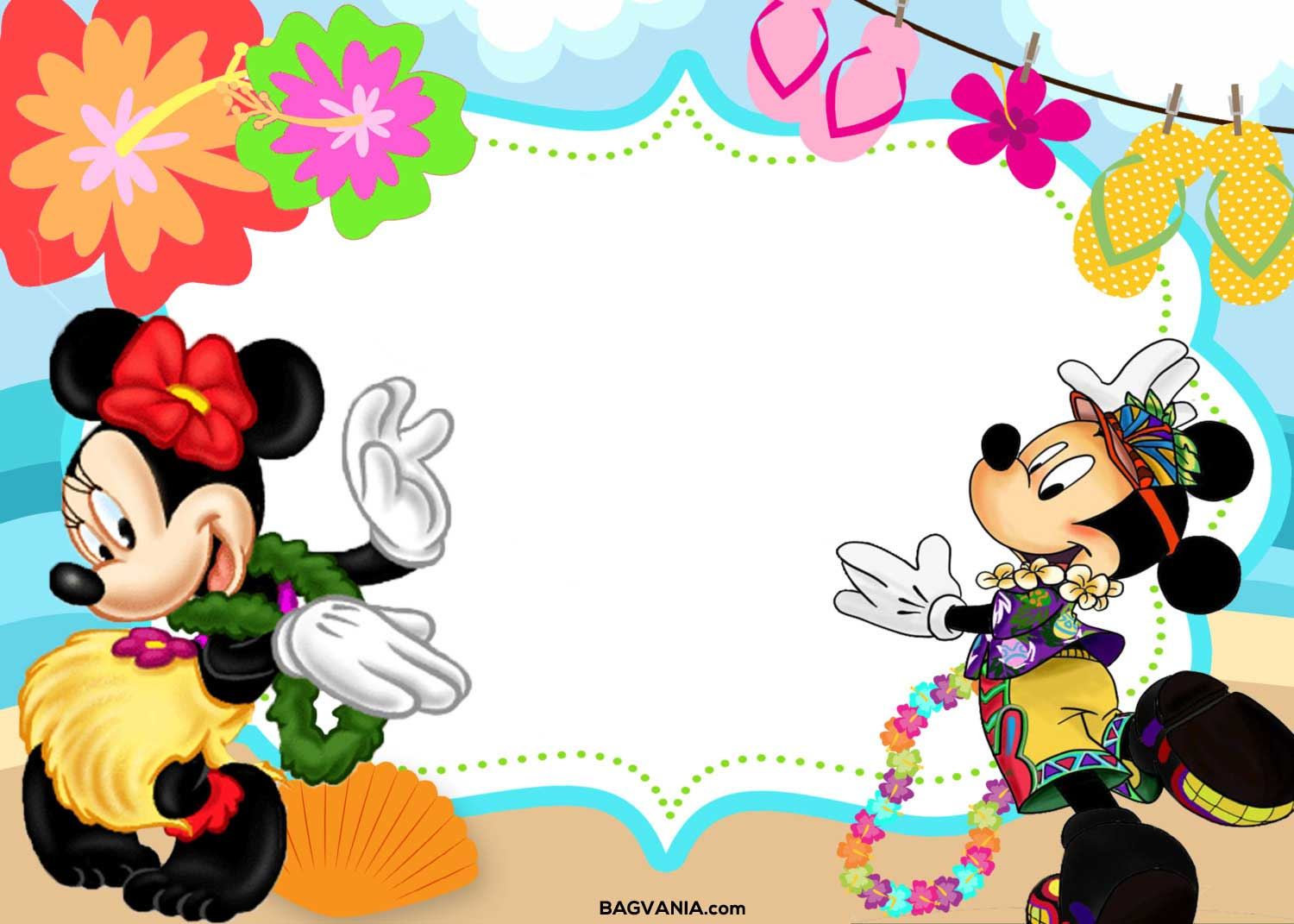 mickey mouse birthday invitation cards