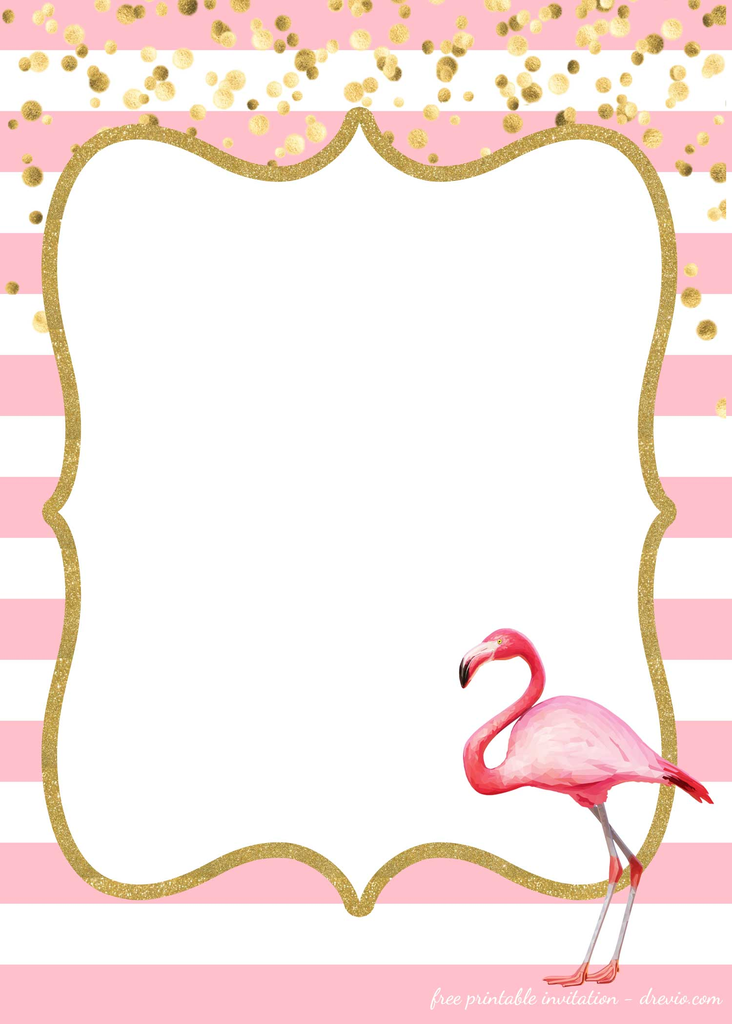 16 Free Flamingo Invitations Templates Downloadable