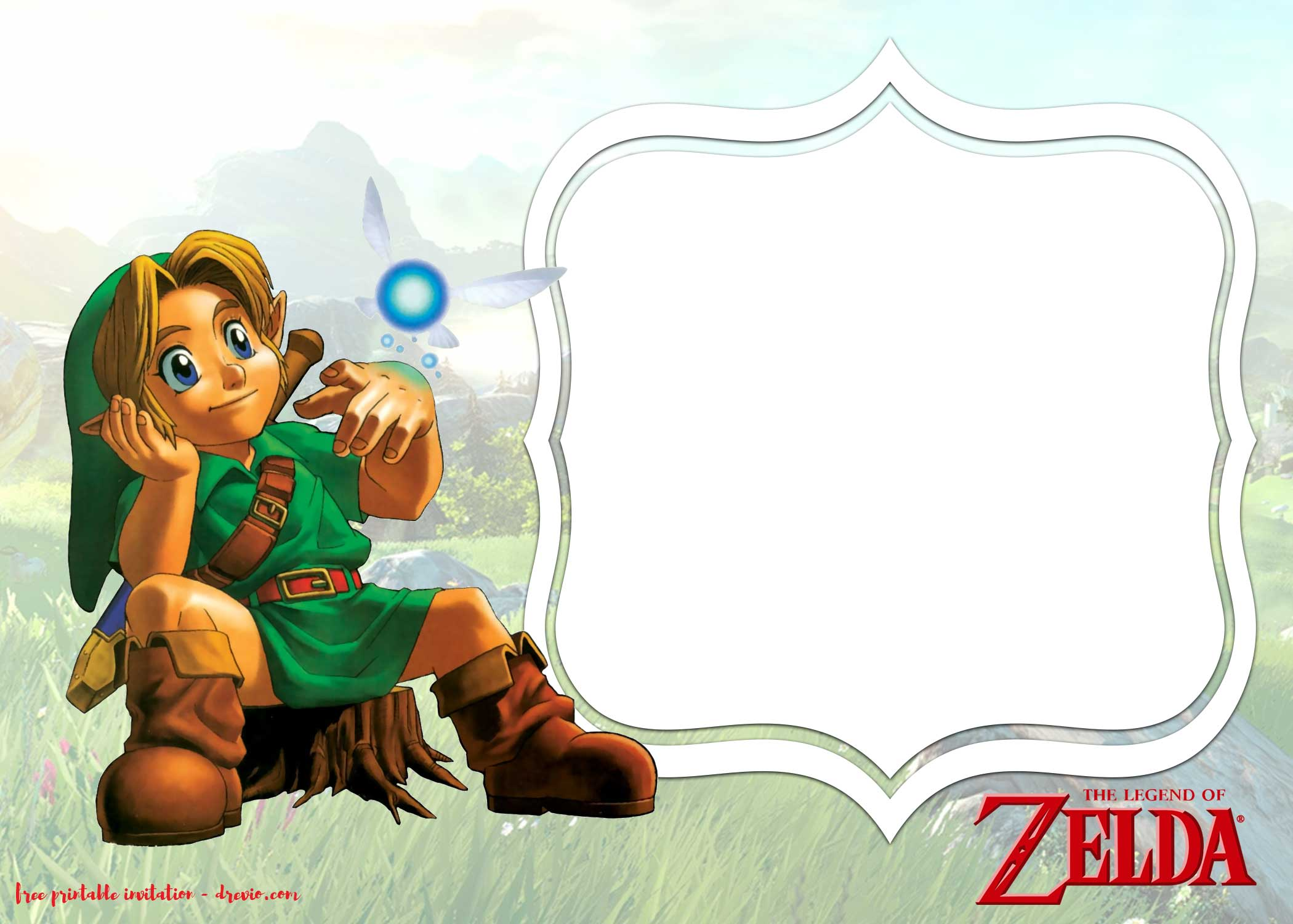 FREE Printable Legend of Zelda Invitations Templates  FREE Invitation Templates  Drevio