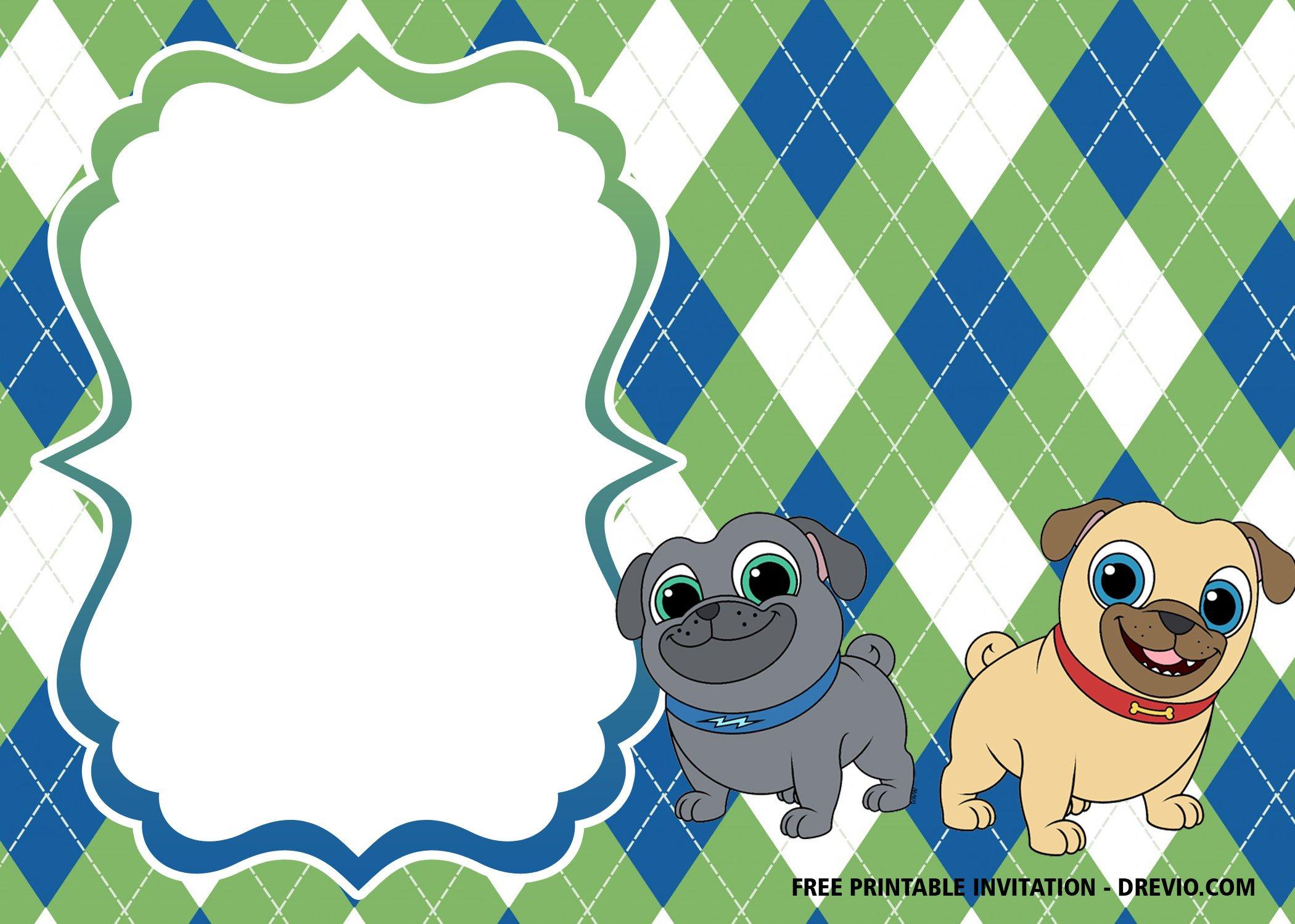 Cute Baby Girl Wallpaper Free Download Free Disney Puppy Dog Pals Invitation Templates Drevio