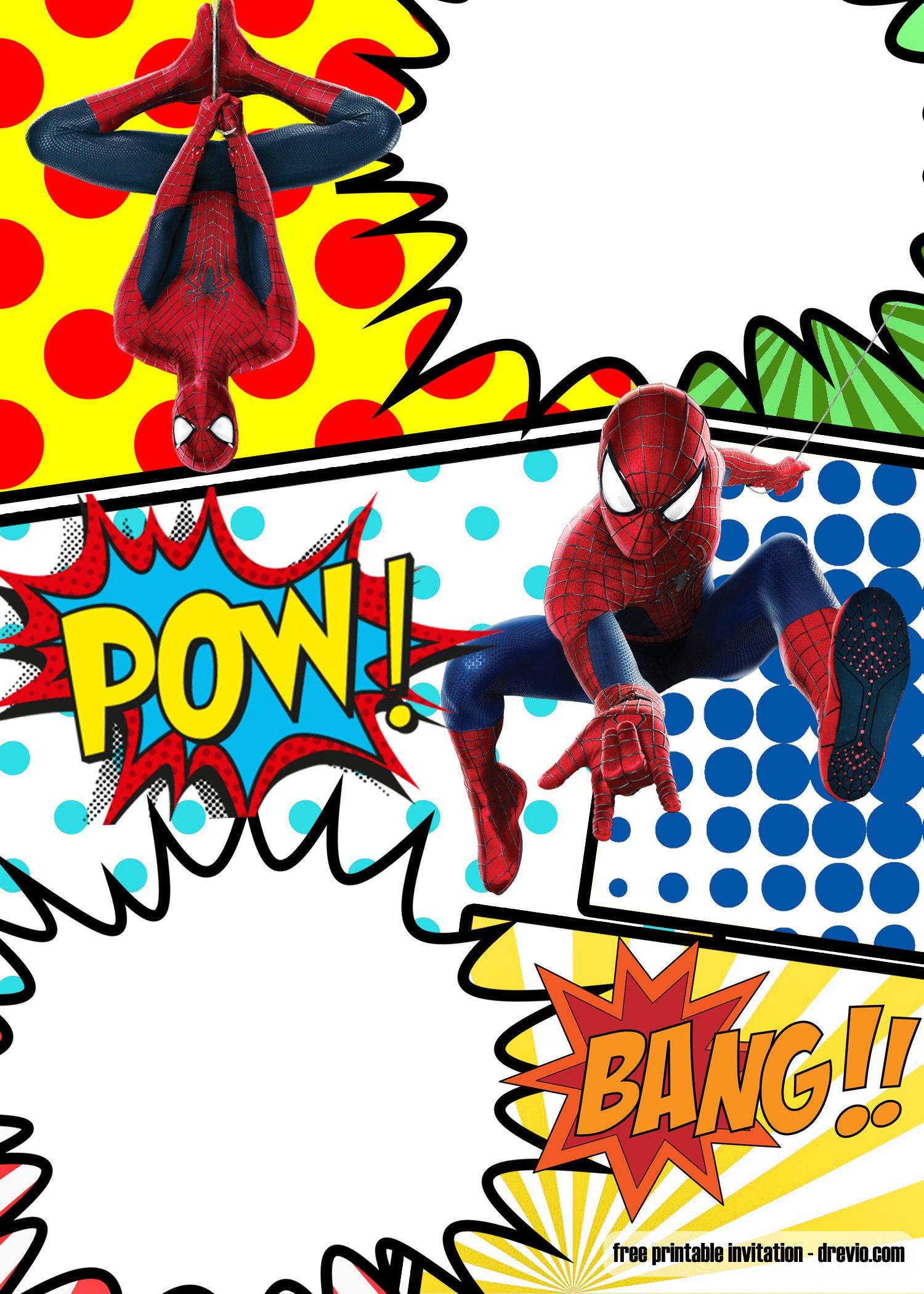 free marvel spiderman comic style