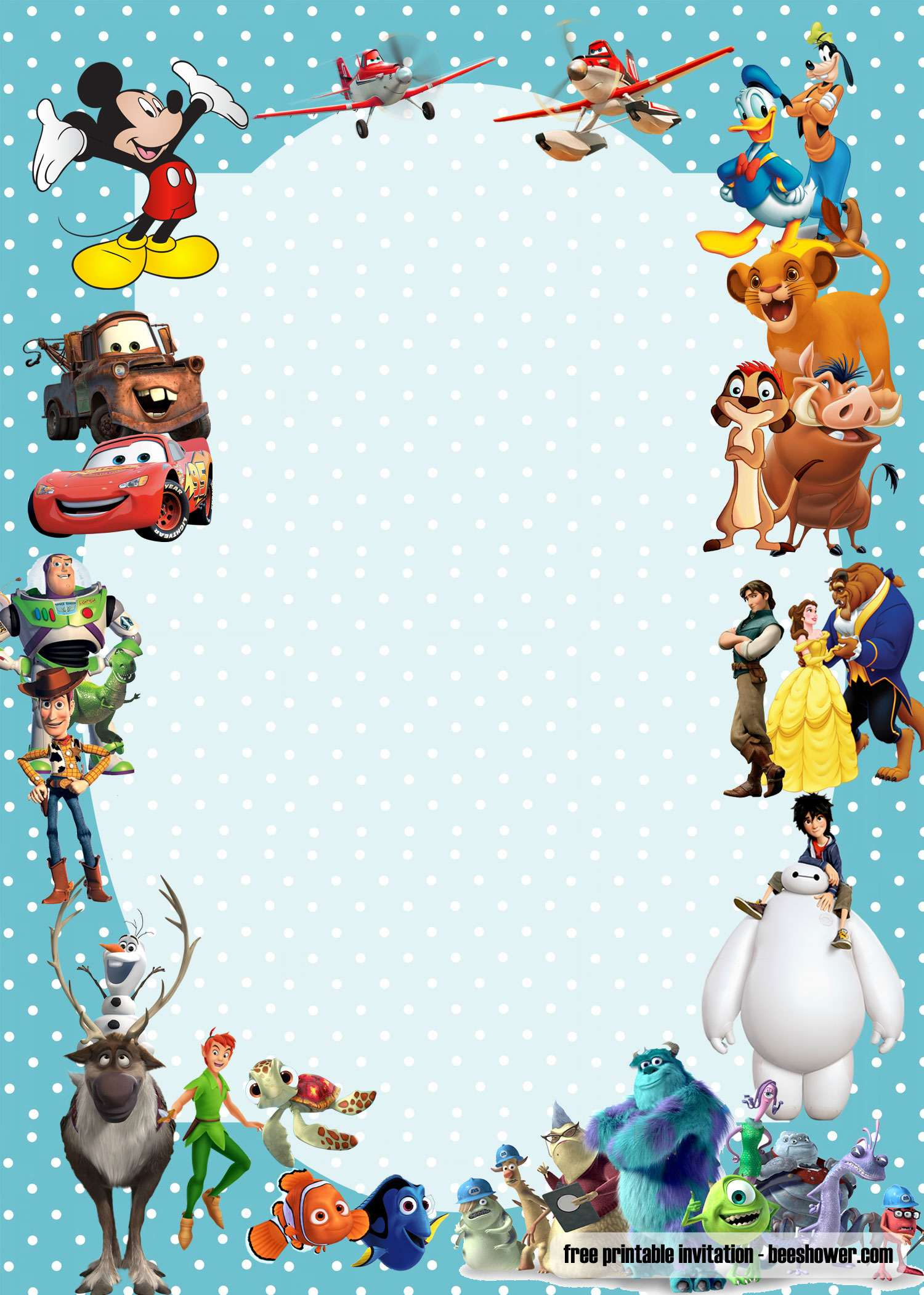 Free Disney Baby Shower Invitations Templates