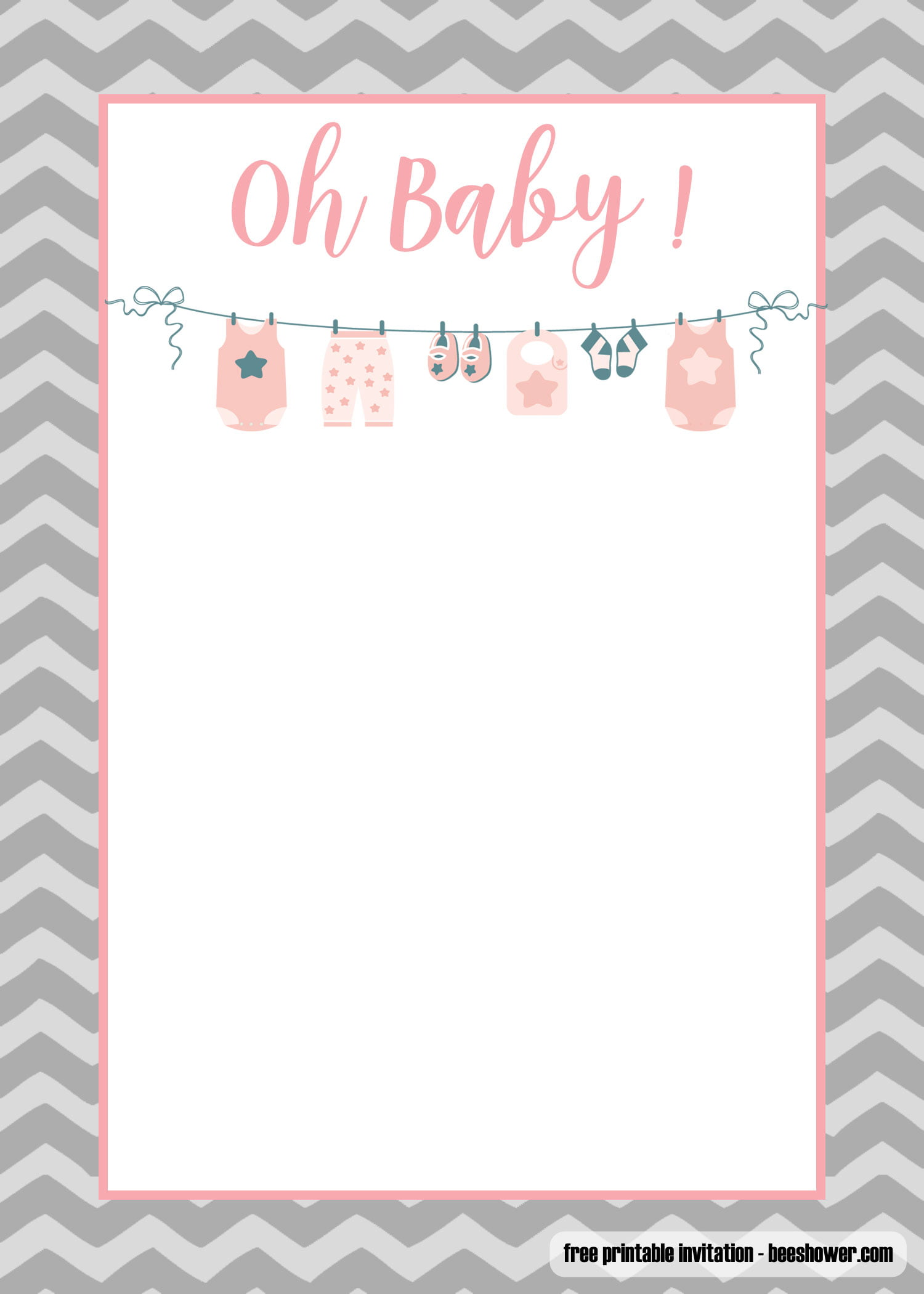 Free Printable Onesie Baby Shower Invitations Templates Free Invitation Templates