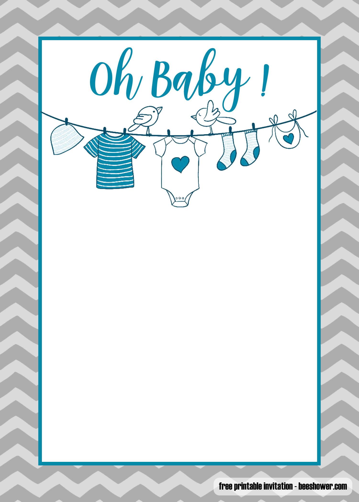 Free Printable Onesie Baby Shower Invitations Templates