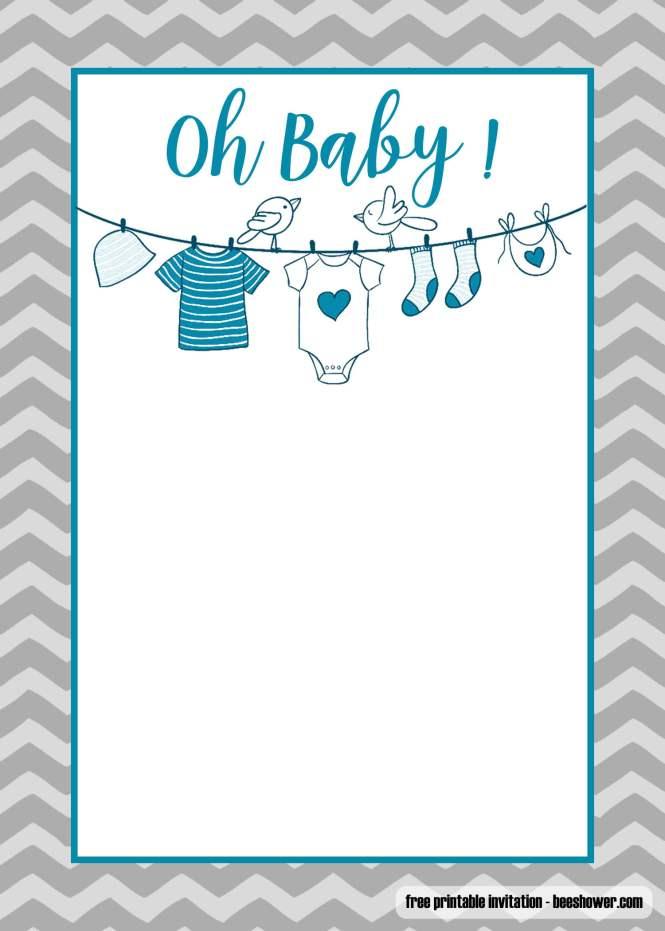 Free Printable Onesie Baby Shower