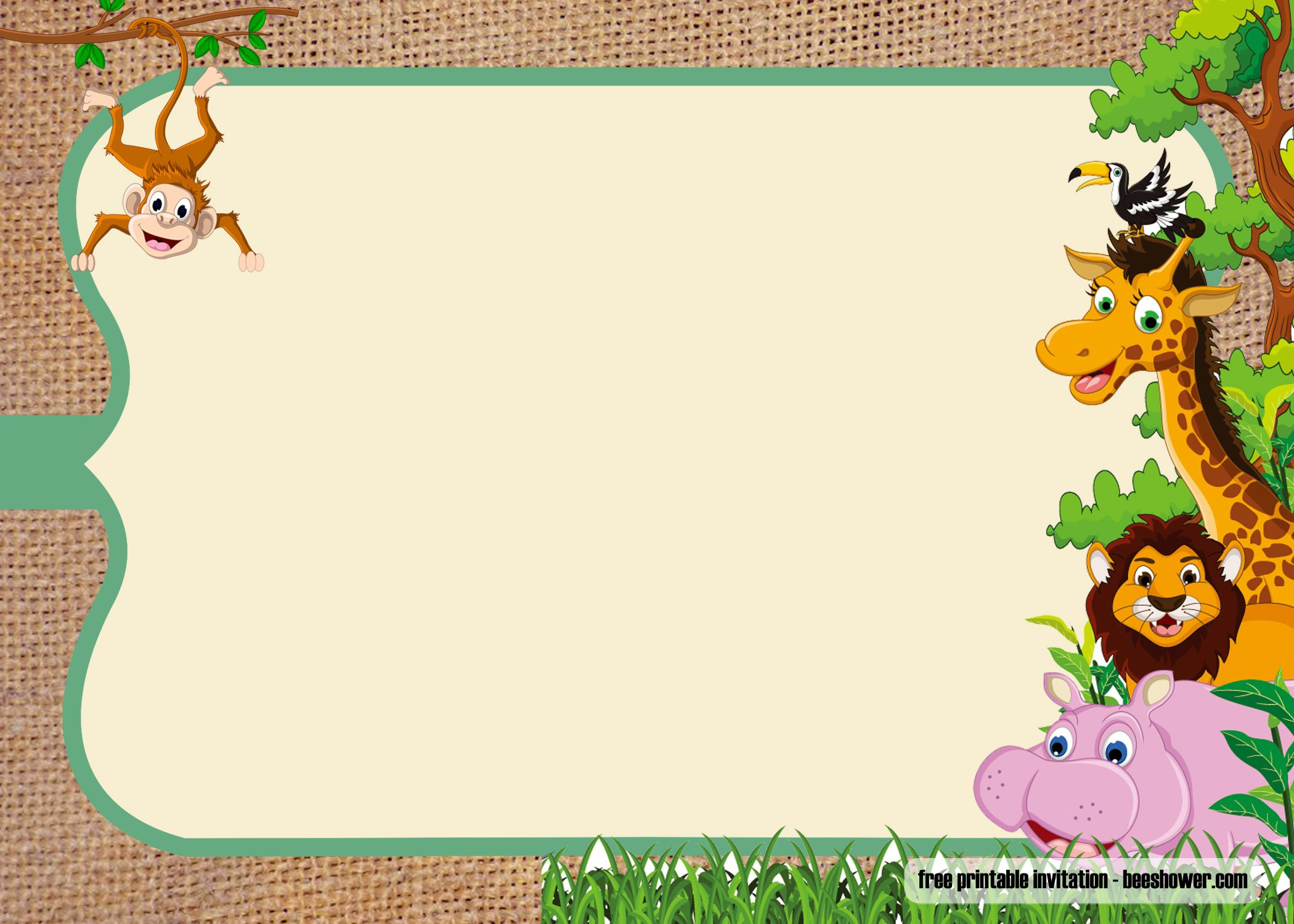free safari theme baby shower