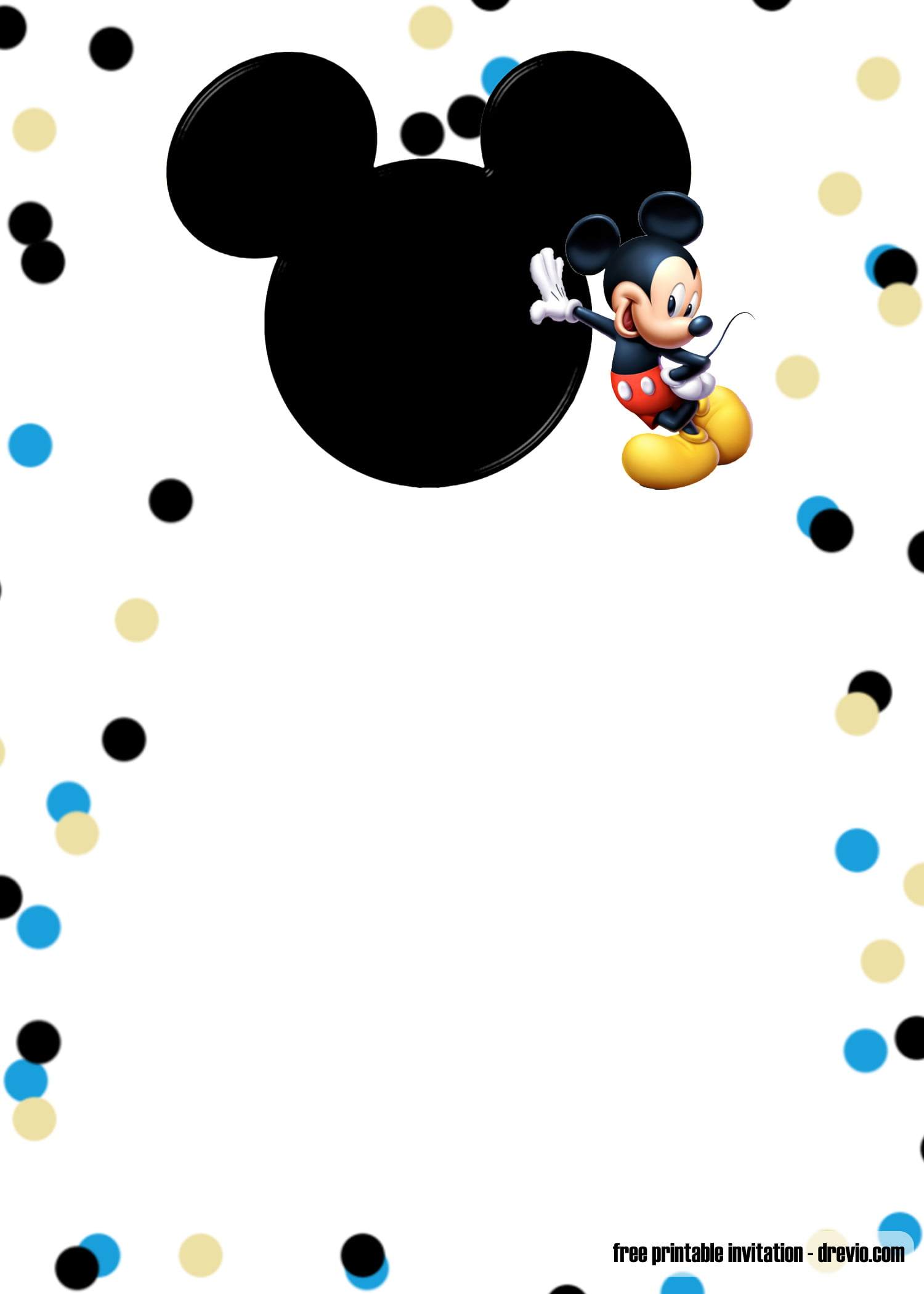 free printable mickey mouse blue