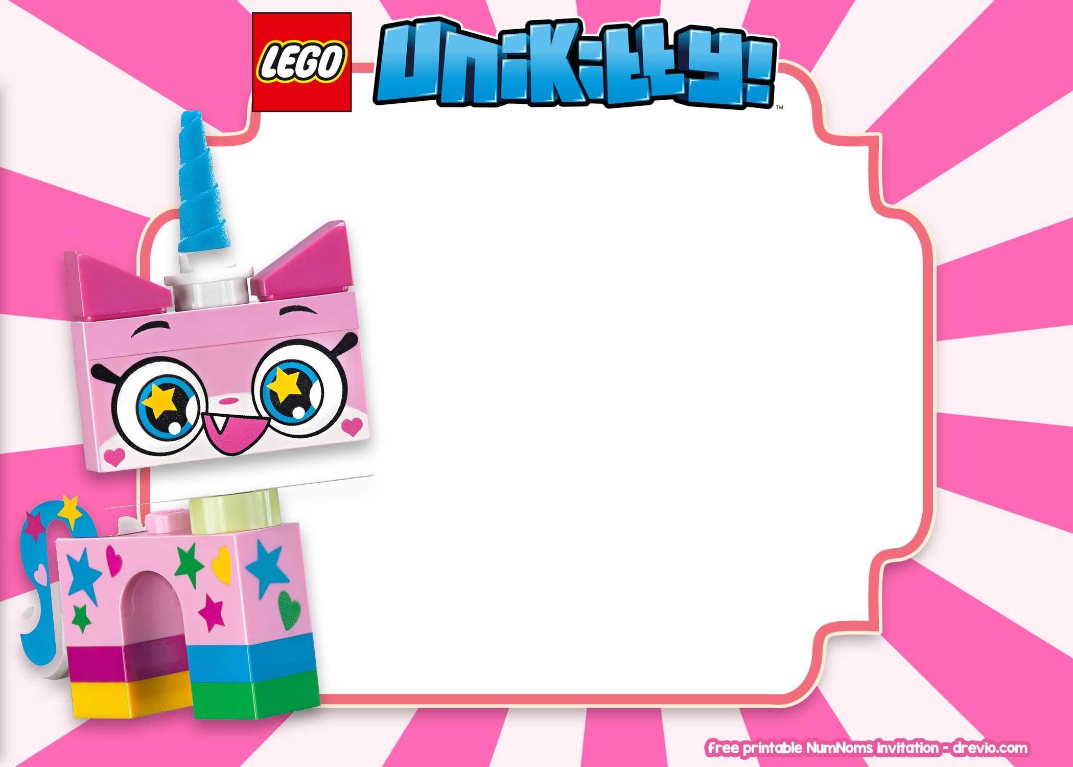 free lego unikitty invitation templates