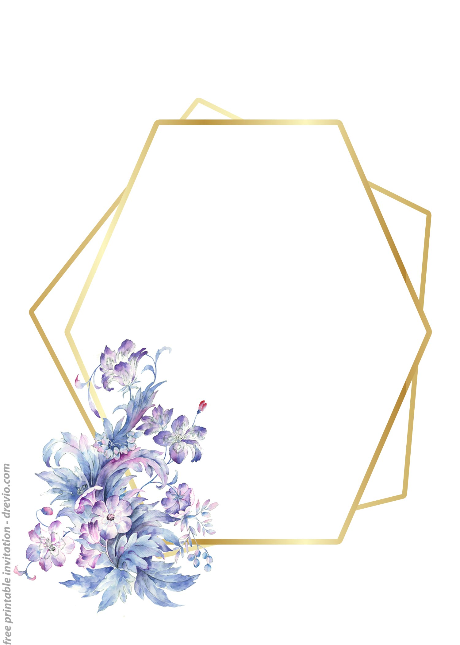24 Free Printable Floral Watercolor Invitation Templates