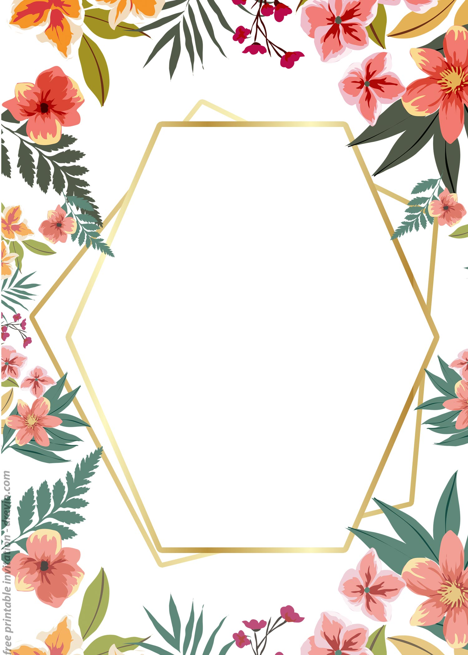 24 Free Printable Floral Watercolor Invitation Templates