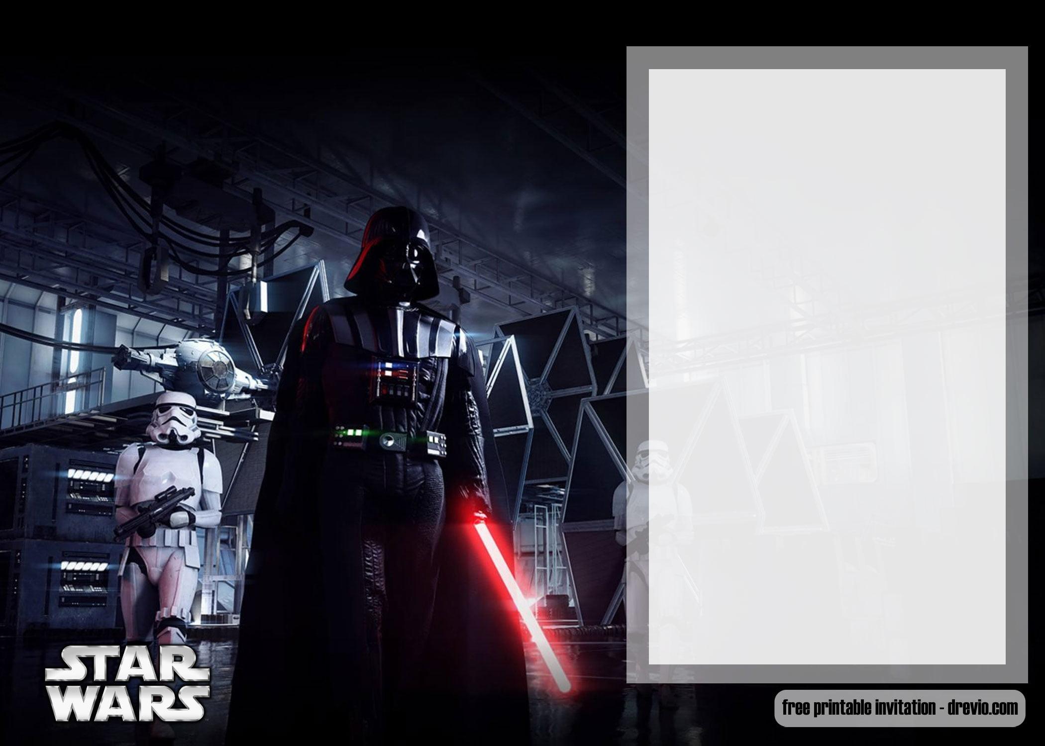 Free Printable Star Wars Invitation Templates Free
