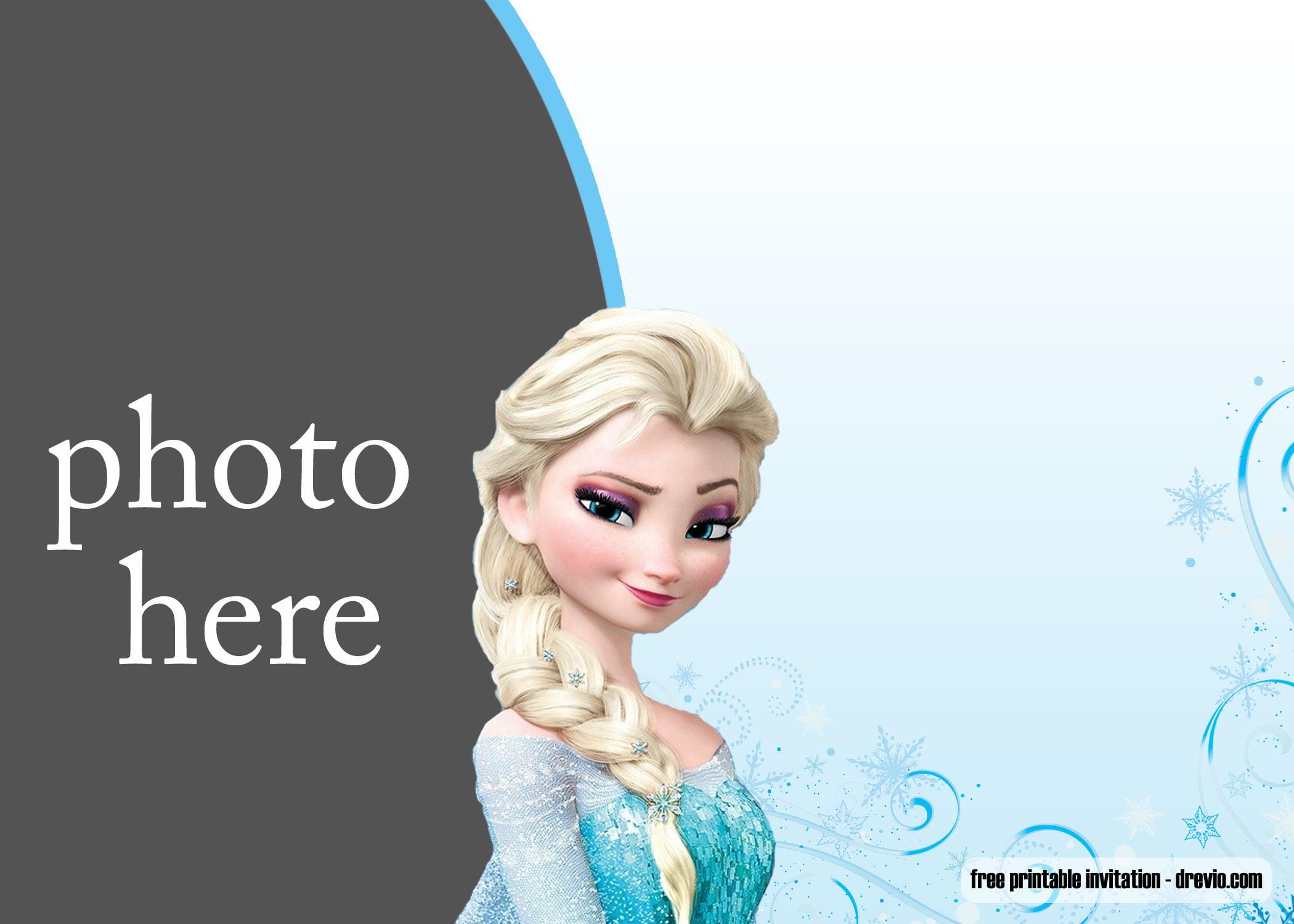 free printable elsa frozen invitation