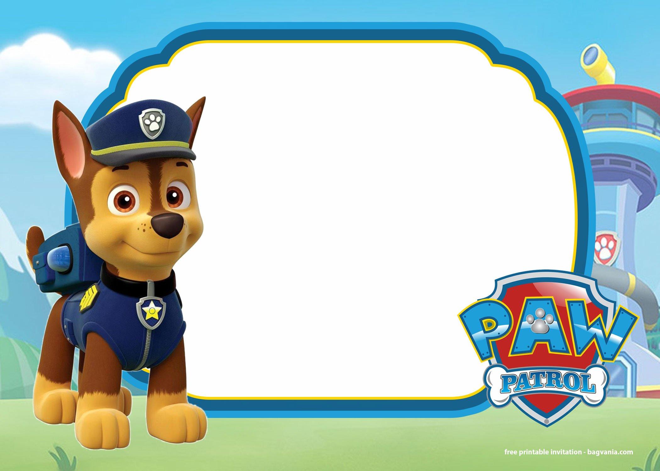 free printable paw patrol invitation
