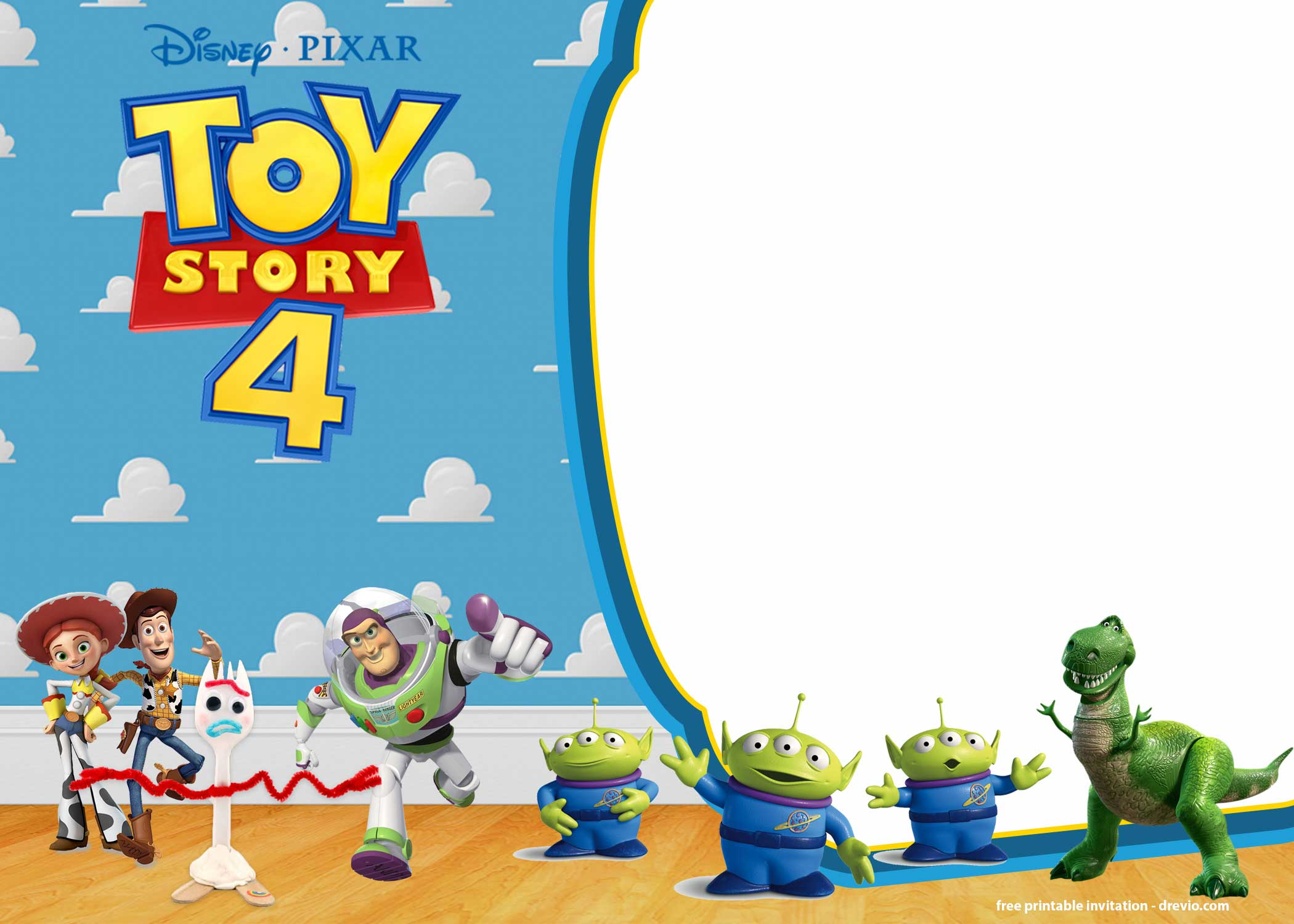 Free Printable Toy Story 4 Invitation Templates