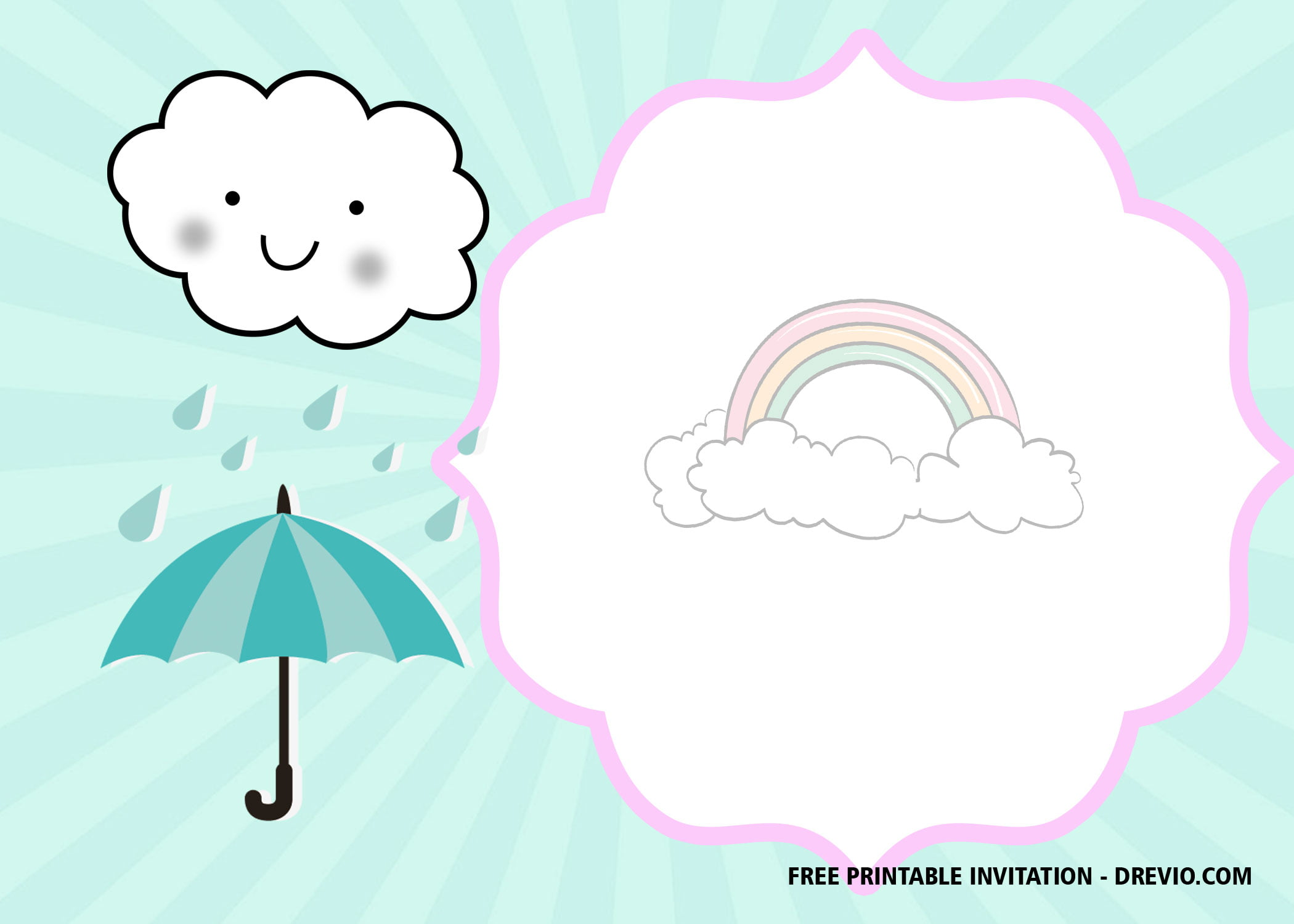 Free Printable Cloud Invitation Templates