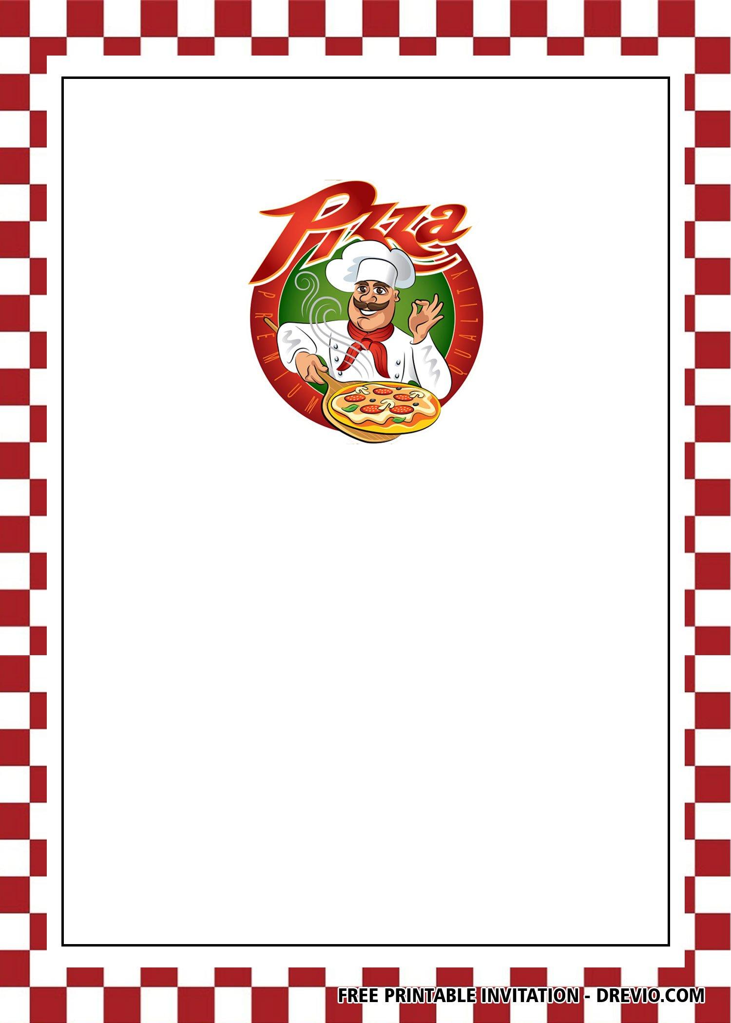 Free Pizza Invitation Templates