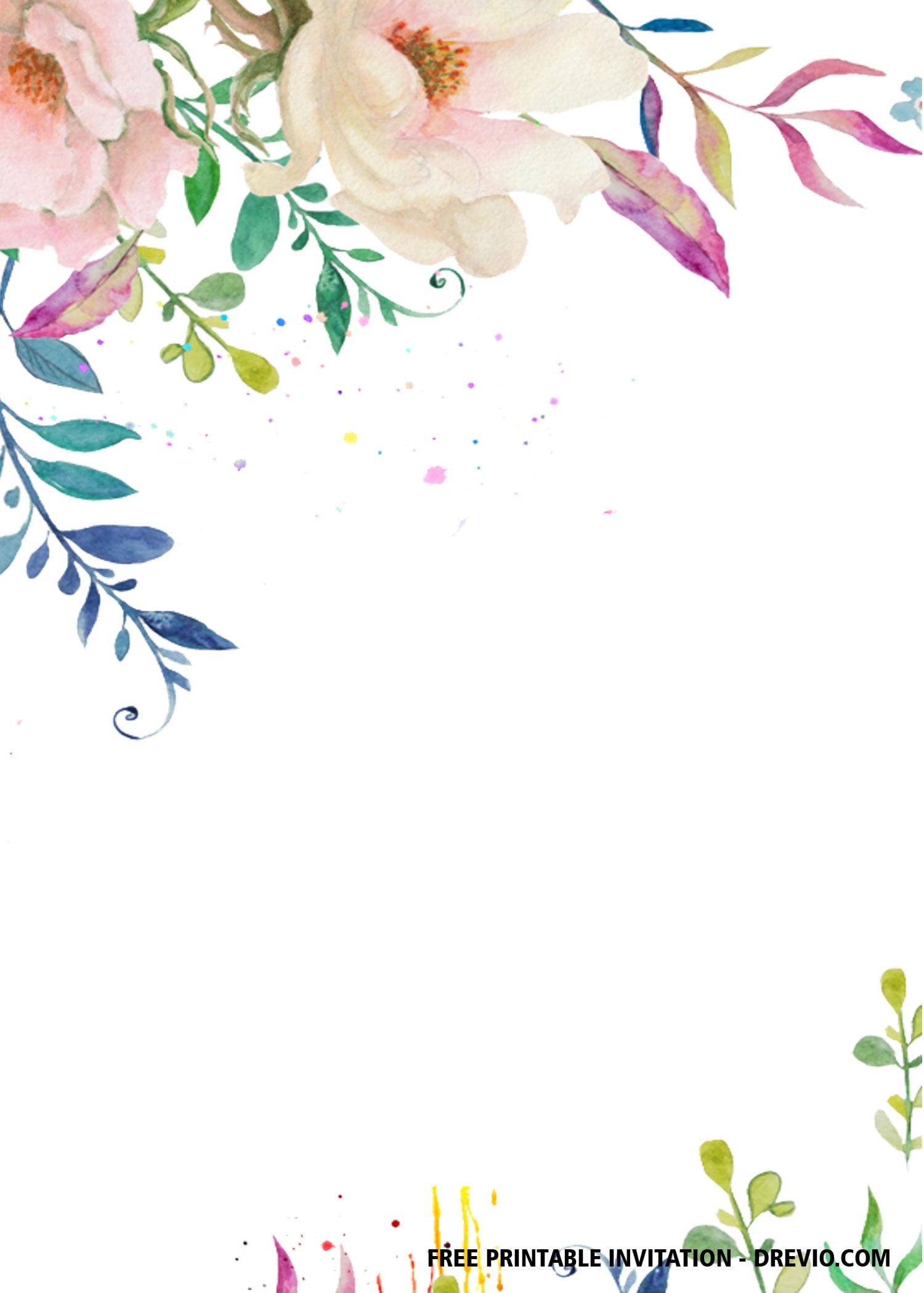 Free Printable Bridal Shower Invitation Templates